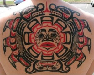Tattoo of the natives of Pacific 1