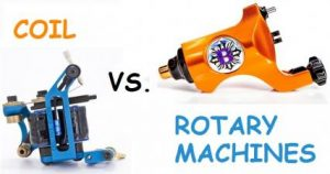Rotary vs coil tattoo machines 1